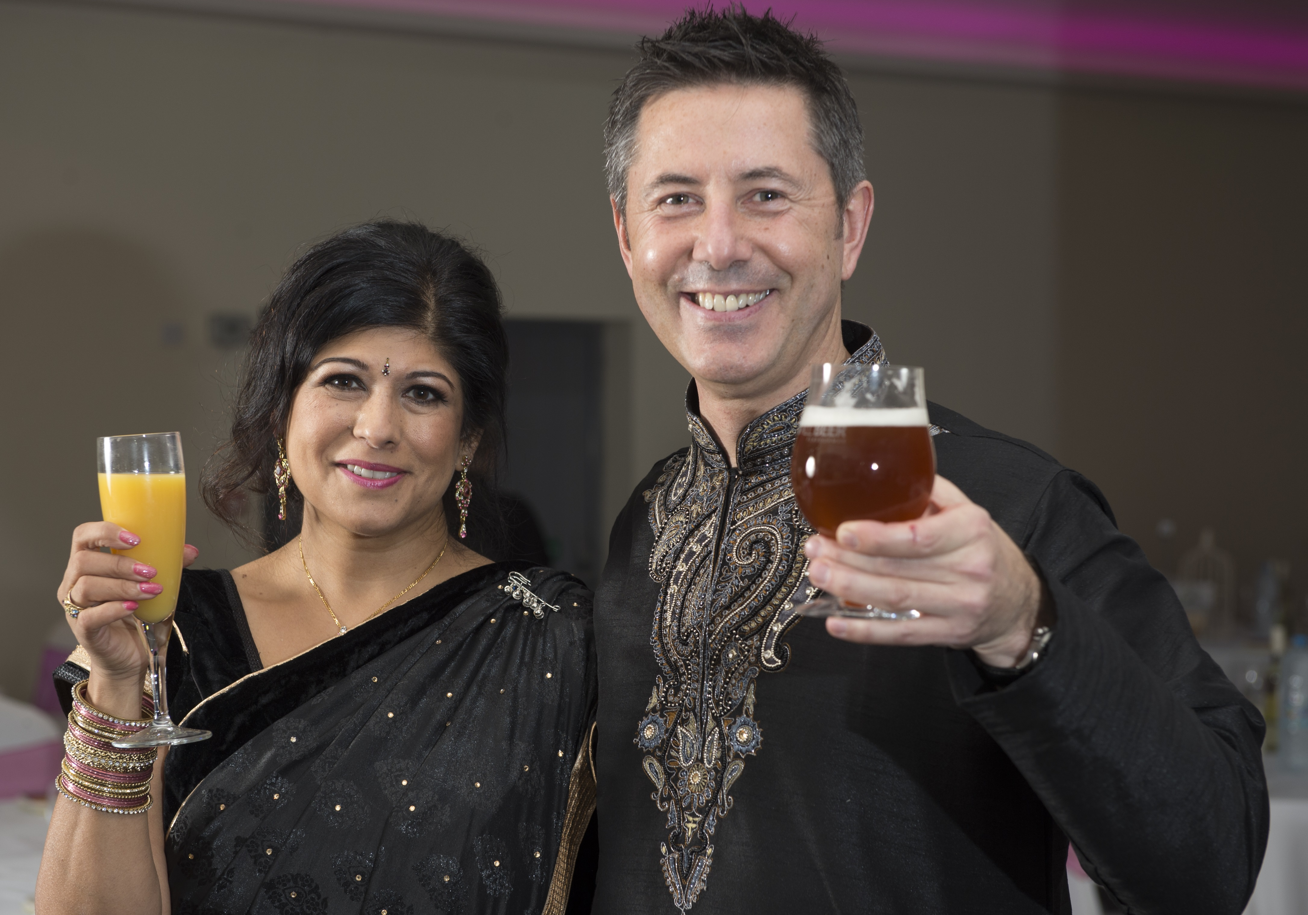 Bhayani Law Bollywood Ball held at Arooj, Attercliffe Road in Sheffield Saturday 7th November 2015 Jay Bhayani and Alex Barlow of All Beer
