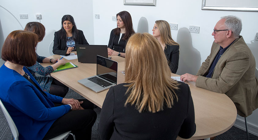 The team providing employment law advice for a business