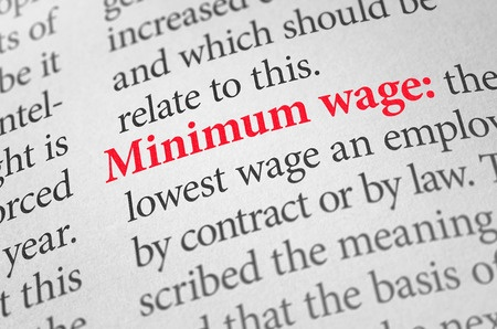 41915759 - definition of the word minimum wage in a dictionary