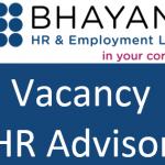 Vacancy – HR Advisor (full or part time)