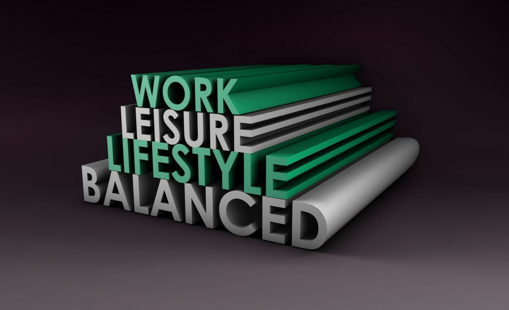 balanced lifestyle flexible working concept as a abstract in 3d text22585143 - balanced lifestyle concept as a abstract in 3d