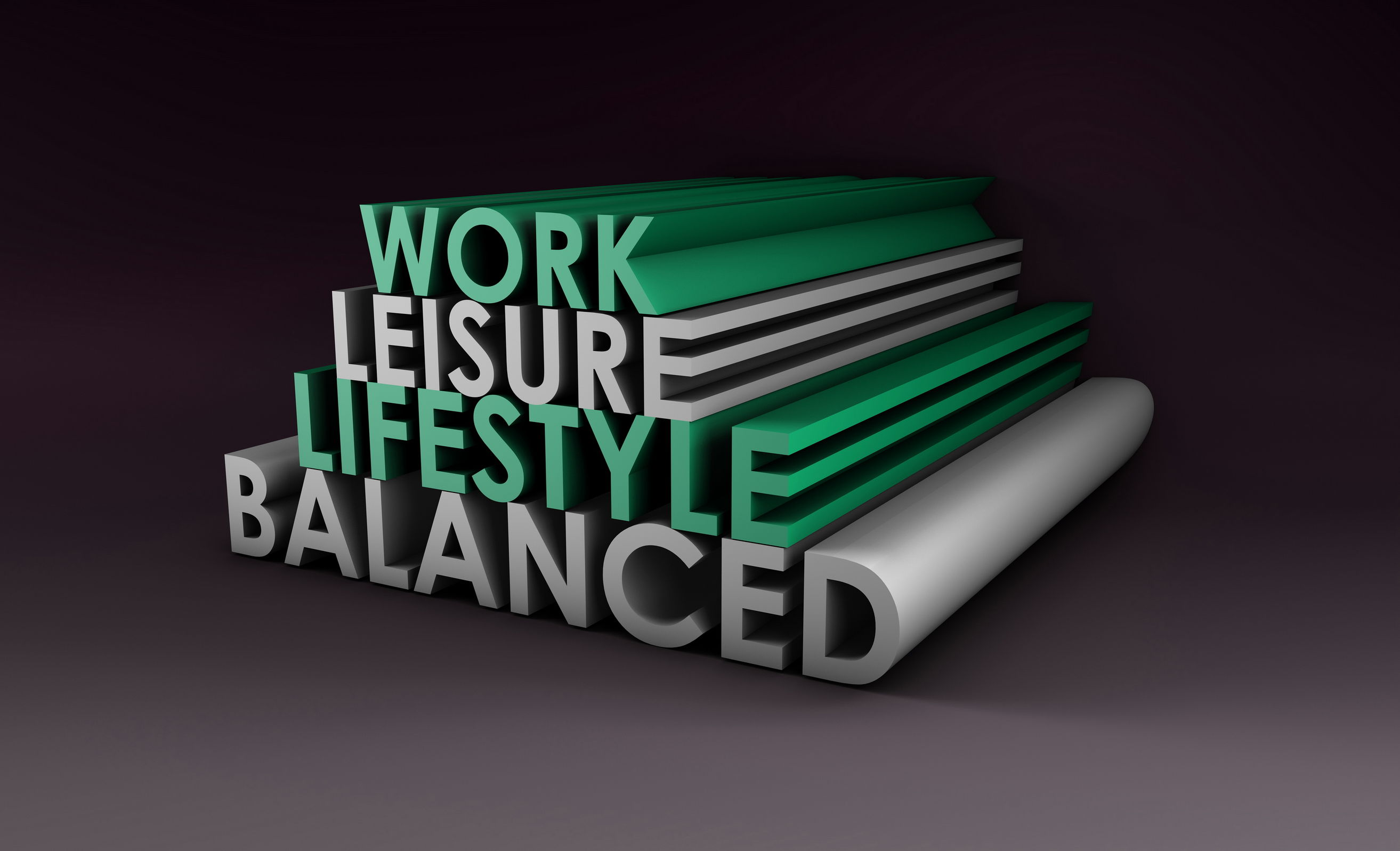 22585143 - balanced lifestyle concept as a abstract in 3d