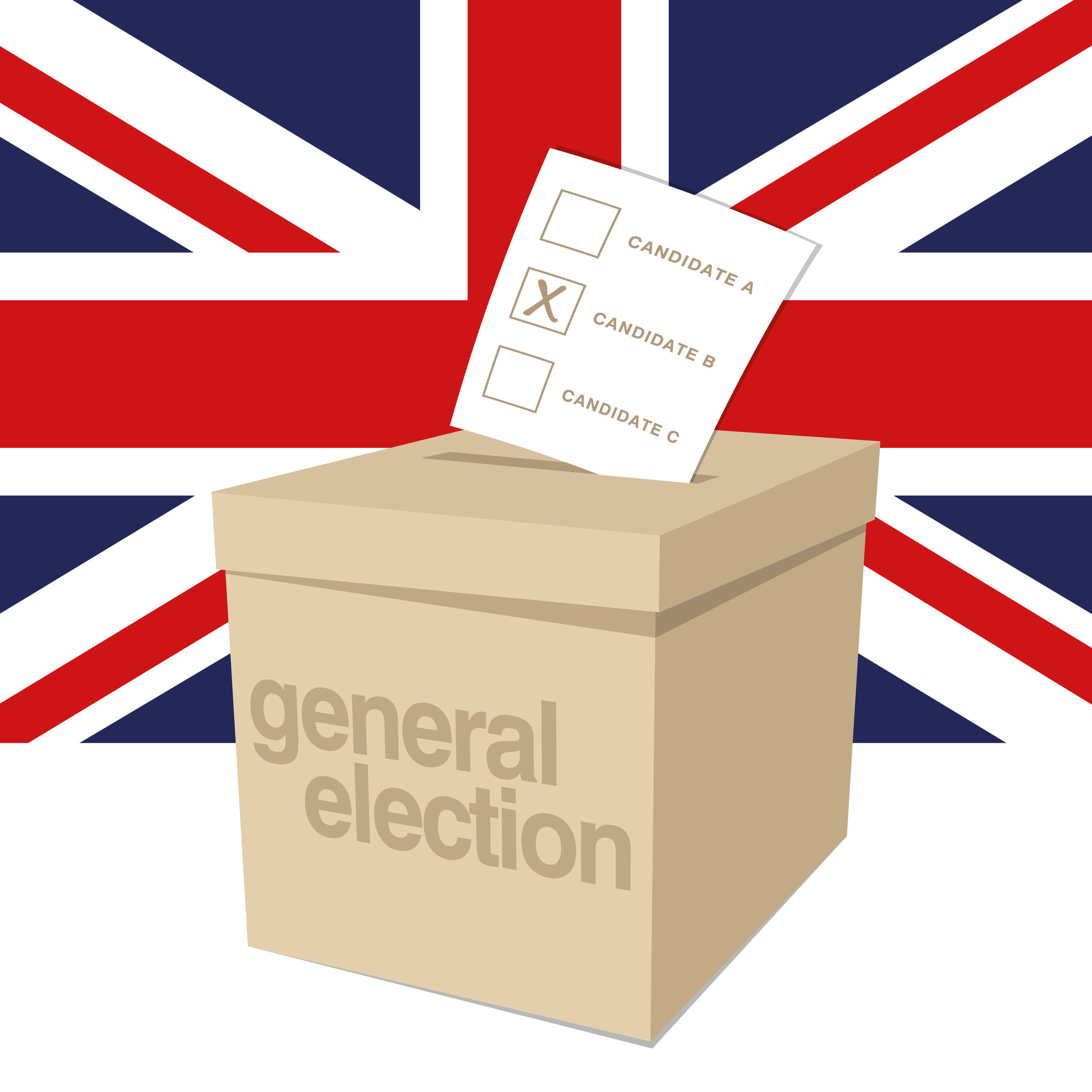 37239578 - ballot box for a uk general election