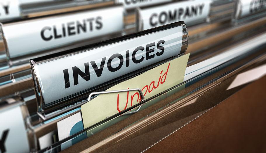 Unpaid invoice file.