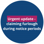 Claiming furlough during notice periods