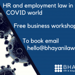 Employment Law and HR in the COVDI world